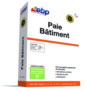 acheter logiciel EBP Paie Bâtiment pro 2018