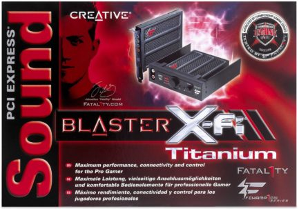 boite Creative Sound Blaster X-Fi Titanium Fatal1ty SB0880 70SB088600001