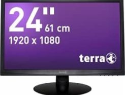 TERRA LED 2412W Noir DVI GREENLINE PLUS