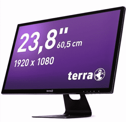 TERRA LED 2470W DP/HDMI GREENLINE PLUS coté