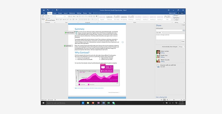 Office Pro plus 2016 word