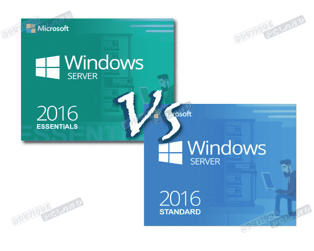Comparaisons de Windows server 2016 Essentials vs standard