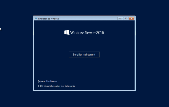 Windows server 2016 sans interface graphique 1