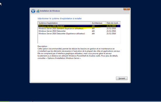 Windows server 2016 sans interface graphique 2