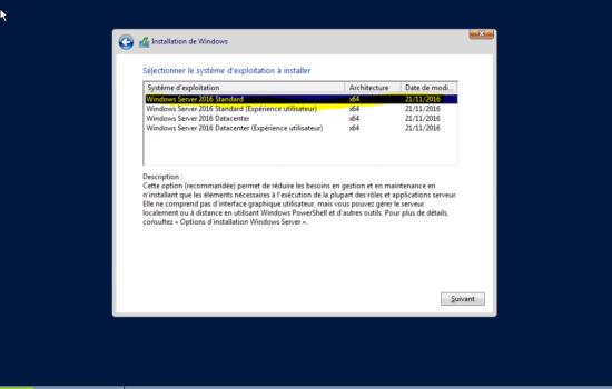 Windows server 2016 sans interface graphique 2