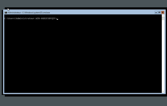 fin de l'installation de Windows server 2016 sans interface graphique