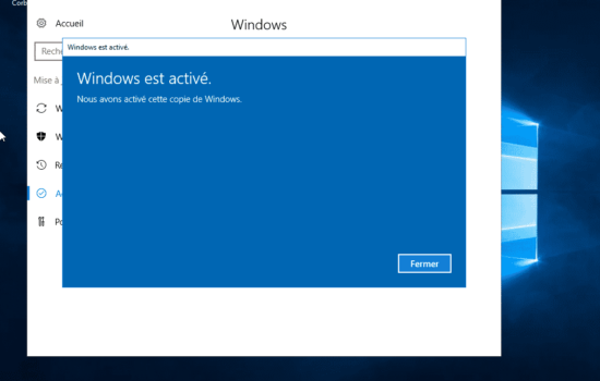 ok Windows server 2016 activation