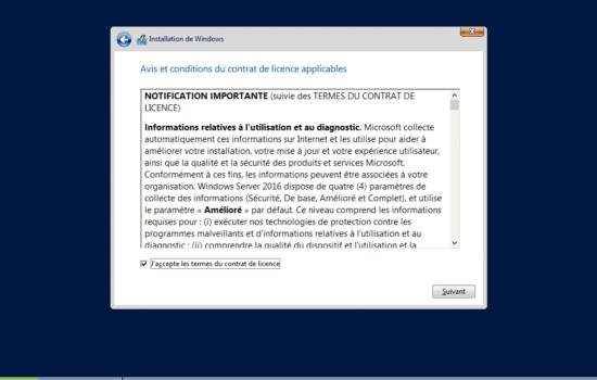therme Windows server 2016 sans interface graphique