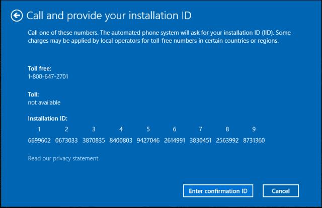 Comment activer Windows 10 par téléphone.