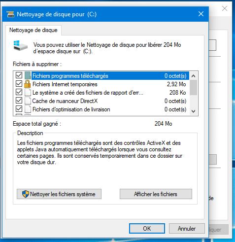 Comment supprimer un windows old sur c clique sur nettoyage