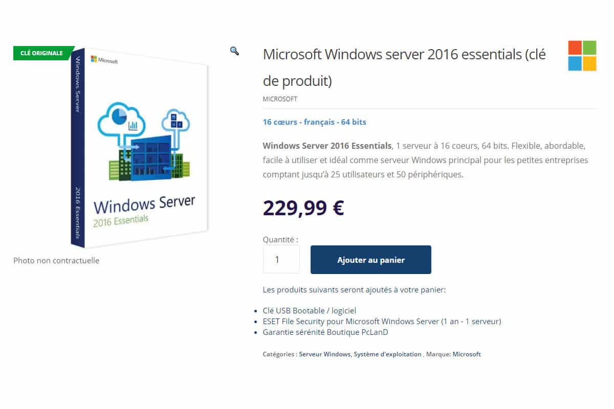 Windows server 2016 essentials product key
