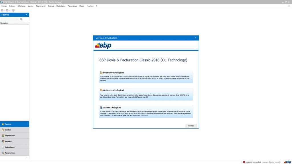Comment Activer ma licence de mon logiciel EBP