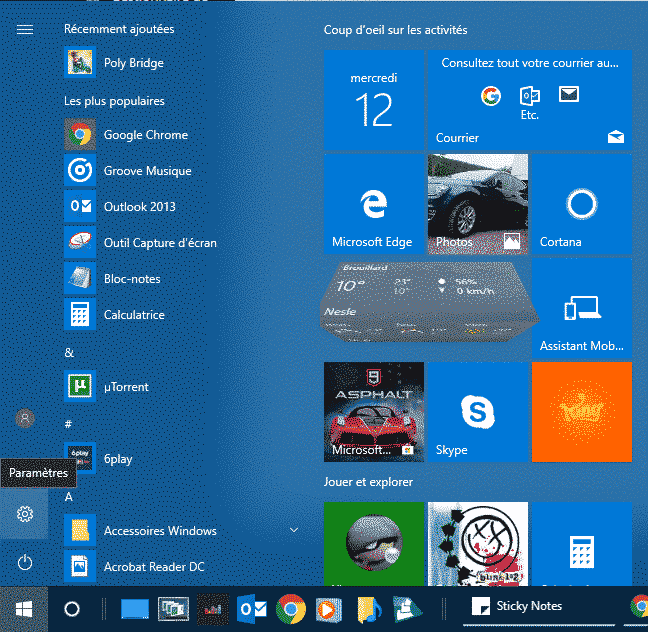 Mis à niveau Windows 10 Famille vers Windows 10 Professionnel