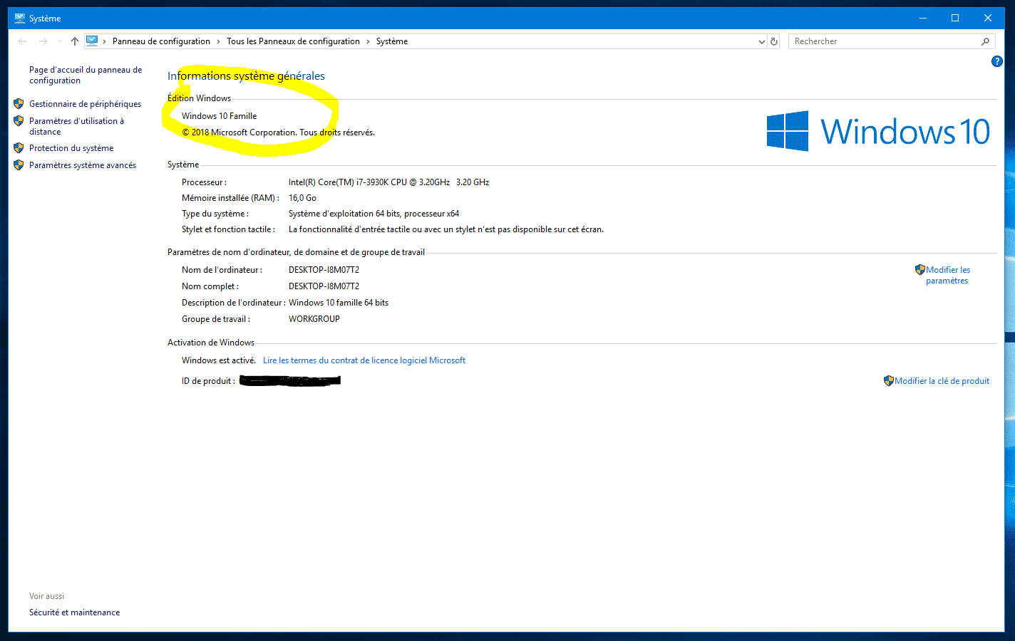 Comment savoir ma version de windows