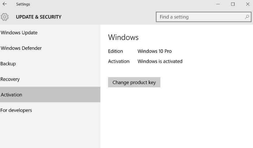 Activer Windows crack