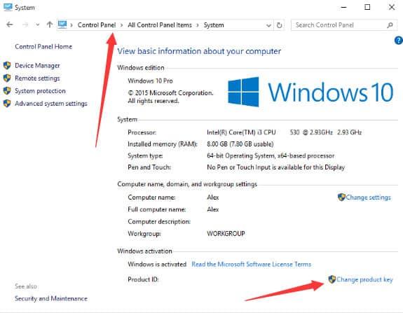 Activer Windows