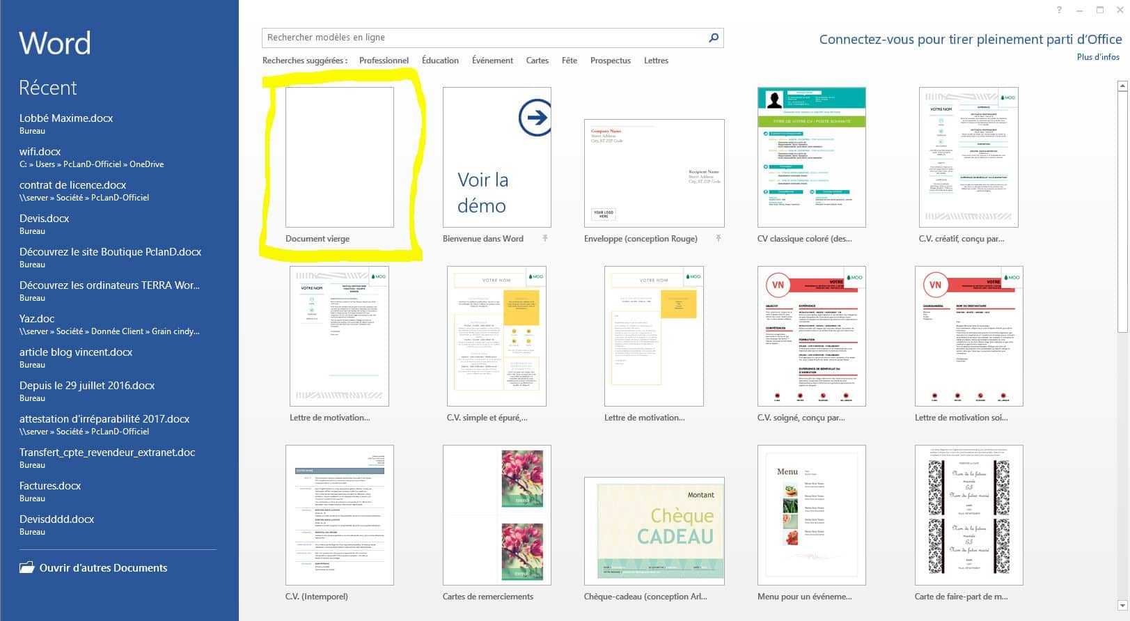 créer un dossier pdf