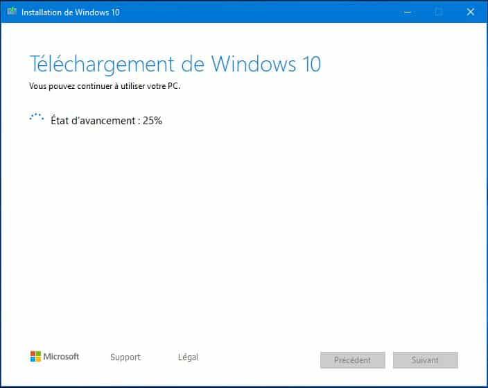 mise à jour manuelle Windows 10 versions 1903