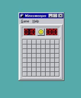 Émulation de windows 95 le démineur