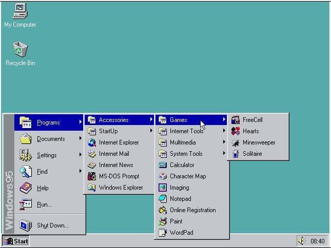 Émulation de windows 95