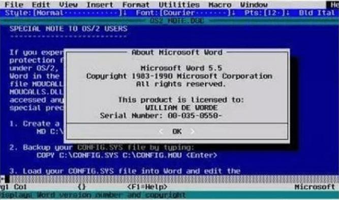 à quoi ressemblait Office 12 versions historiques