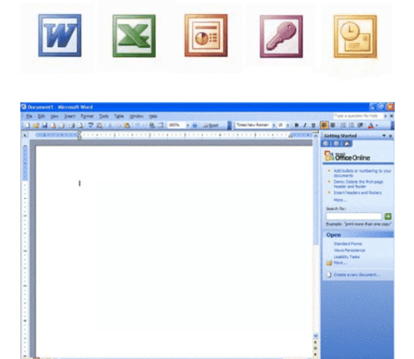 Office 2003 interface