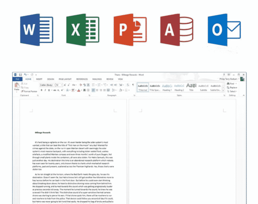 Office 2013 interface