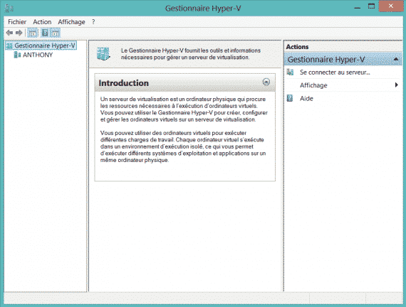 Activer Hyper-V sur Windows 8