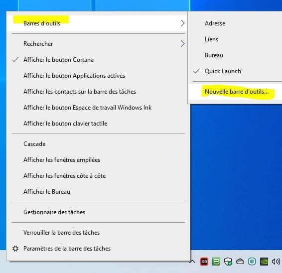 activer le Quick Launch dans Windows 10