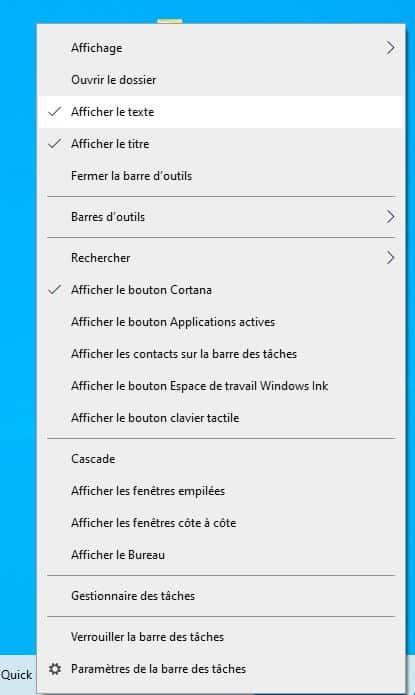 03 - Activer le Quick Launch dans Windows