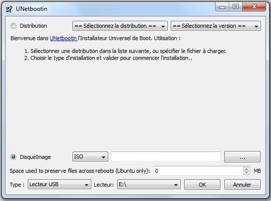 Rendre la clé USB bootable