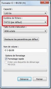 cle usb bootable FAT