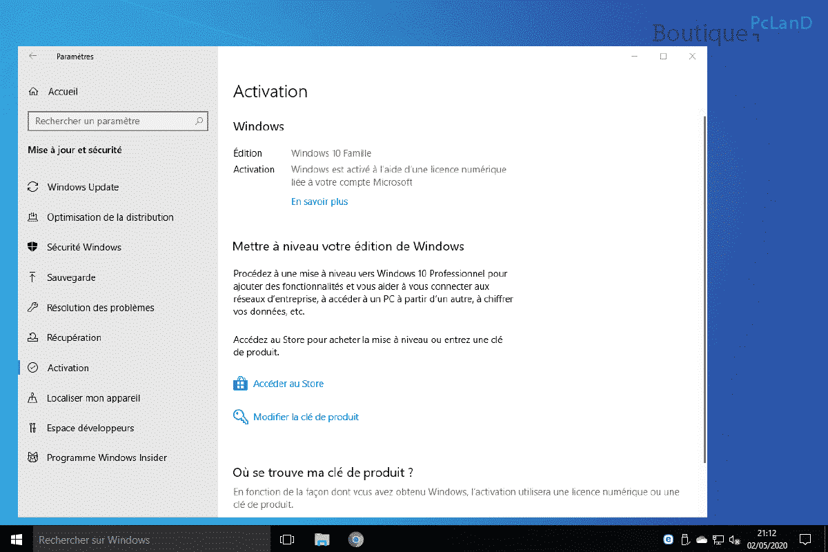 Passer de Windows 10 32 bits à Windows 10 64 bits