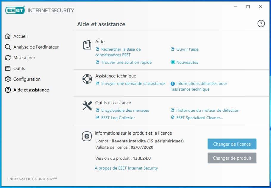 Retrouver ma clé de produit ESET antivirus