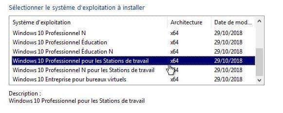 Windows 10 Professionnel pour les Stations de travail x64