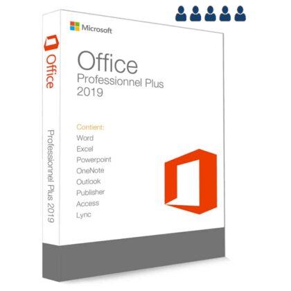 Microsoft Office 2019 Professionnel Plus 32 64 Bit clé de produit 5 postes