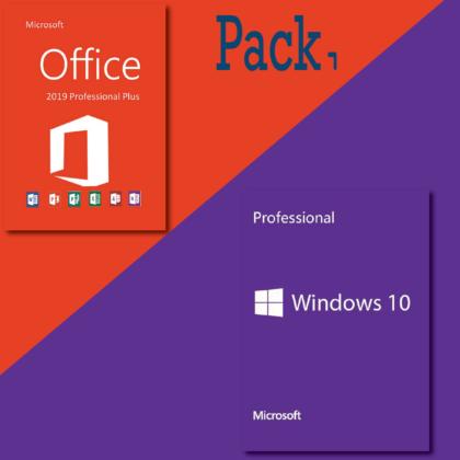 Pack Windows 10 pro + Office 2019 pro plus pas cher