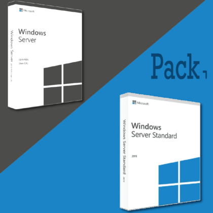 Pack Windows server 2019 standard + 5 CAL RDS USER (clé de produit) pas cher