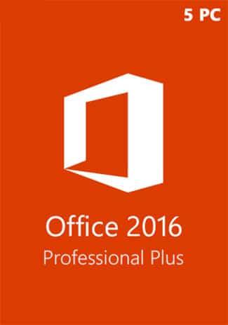 Microsoft office 2016 Pro Plus (Clé de produit 5 postes)