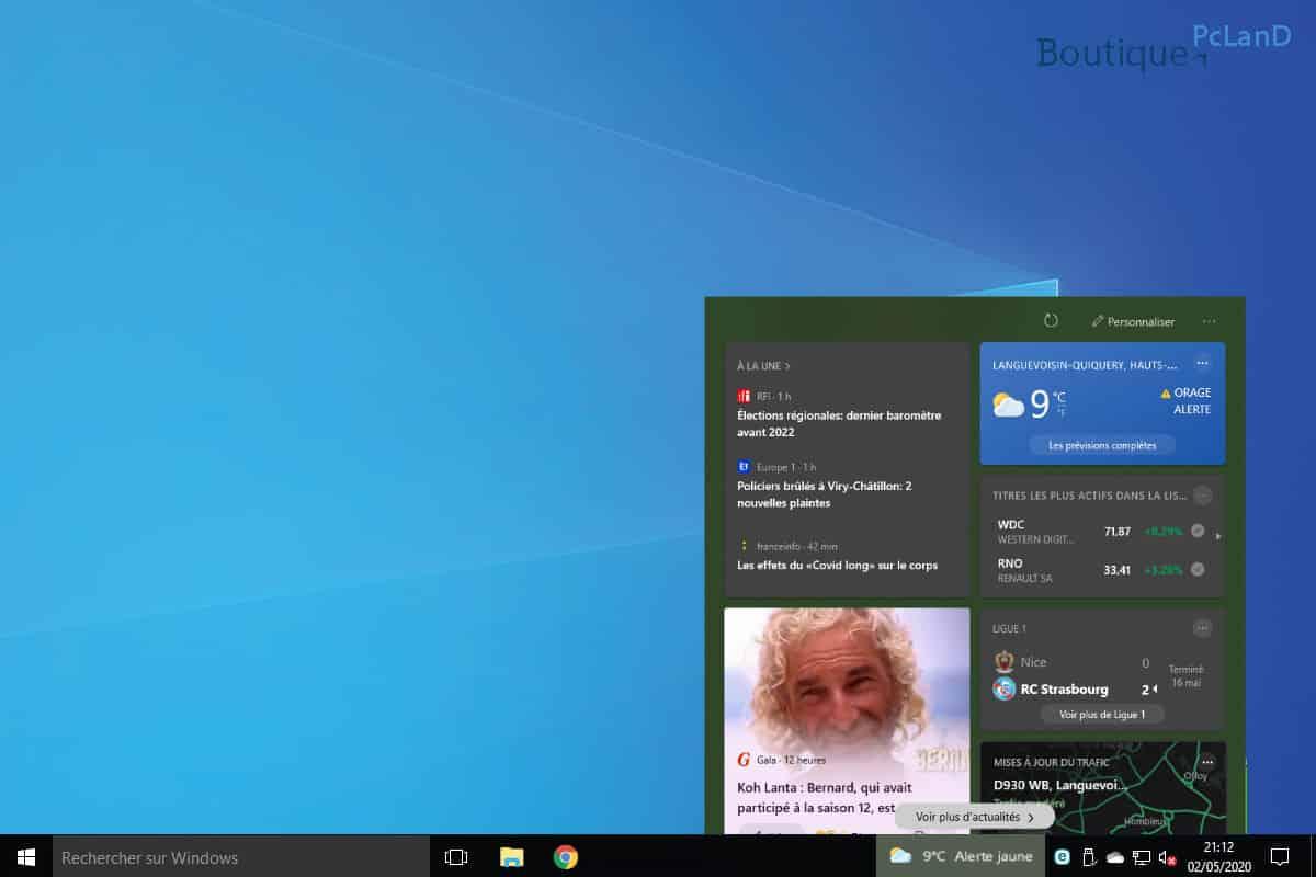 Comment supprimer la météo Windows store dans la barre des tâches Windows 10