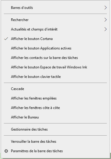 Désactiver la météo Windows store sur la barre des tâches Windows 10