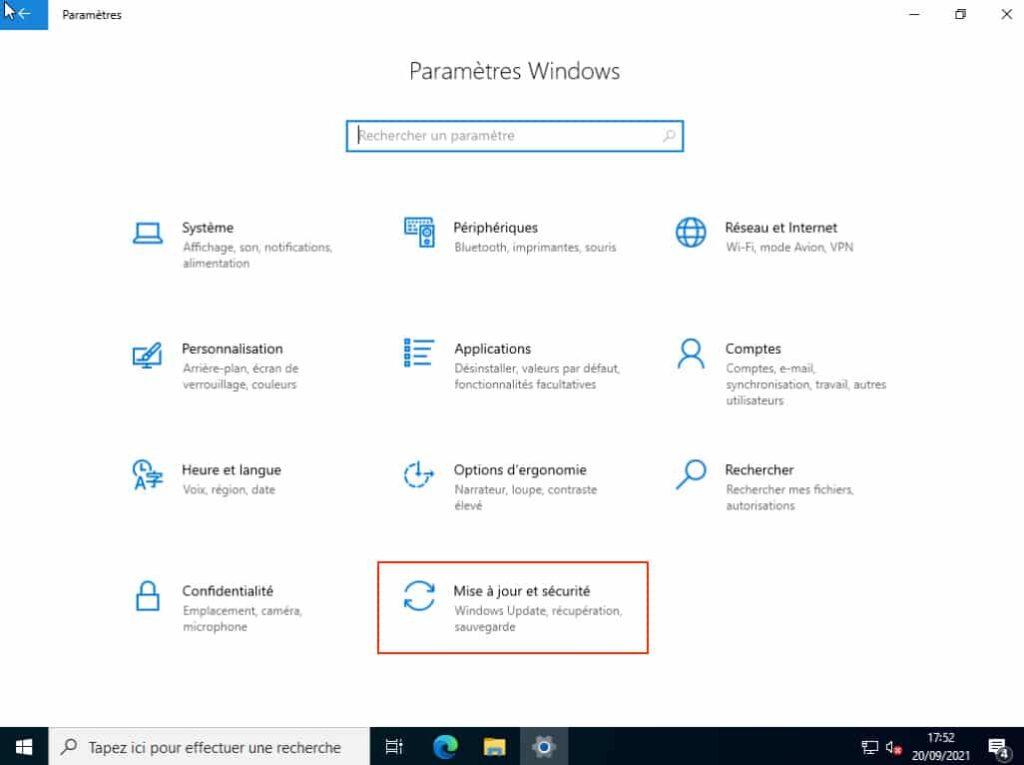 activer Windows Server 2022 standard