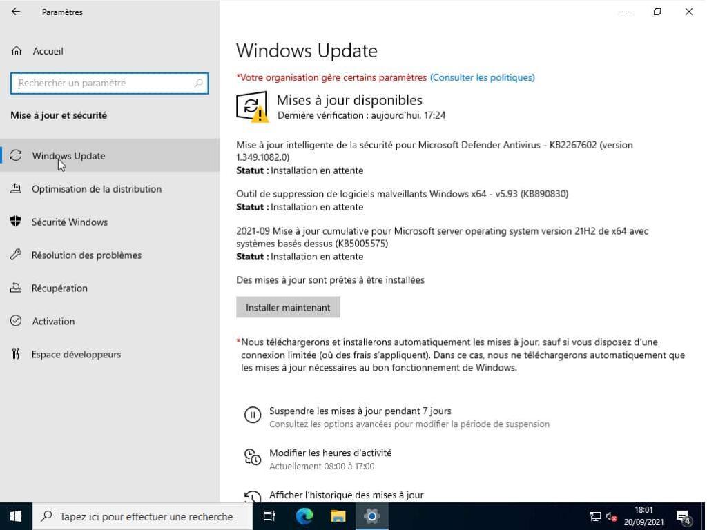Activation Windows Server 2022 standard