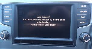 Activation document app-connect Volkswagen 5G0-054-830-A auto-radio