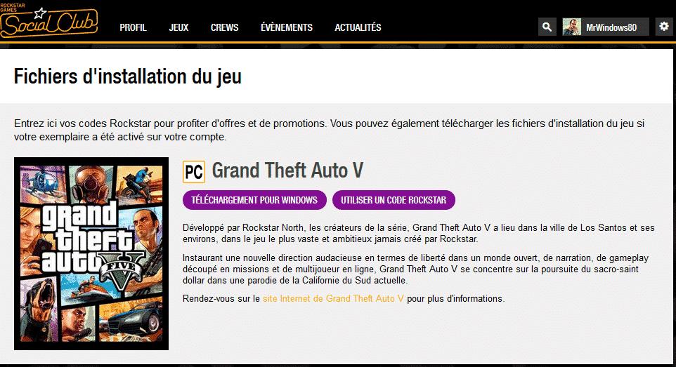 Installer le jeu GTA V