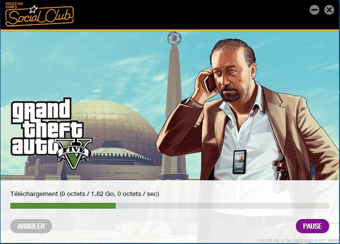 activer le jeu GTA V