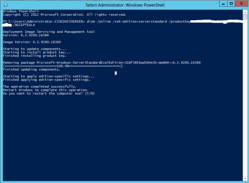 Comment activer Windows server 2046 standard