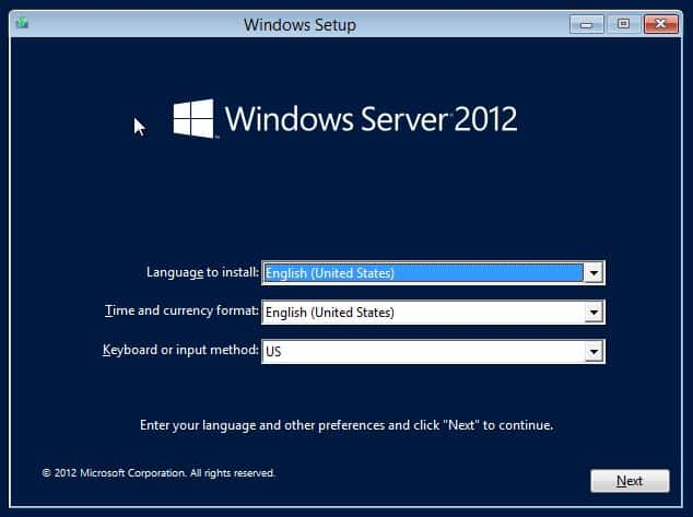 installer un Windowsserver