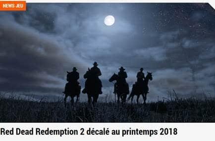 mauvaise nouvelle pour les amateurs de Western red dead redemption