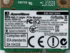 Carte WiFi AzureWave AW-NE186H